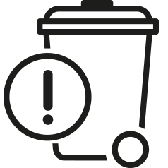 Report missed bin collection icon in .png format