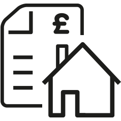Pay council tax icon in .png format