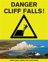 Cliff safety poster