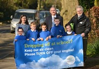Image of Iford and Kingston School pupils with Cllr Linington, Mr Dobell and Cllr Vic Ient