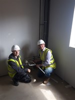 Jamie on site with Mark