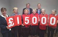 Image of Cllr Shuttleworth and Gill Steadman with charity representatives