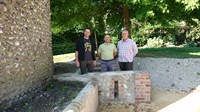 L to R Jo Seaman (Eastbourne Borough Council), Councillor Jonathan Dow and Chris Searle (Friends of Motcombe Gardens) 2