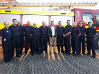 Image of Mayor and firefighters
