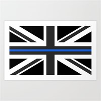 Thin blue line uk flag