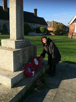 Wreath laying in Chailey