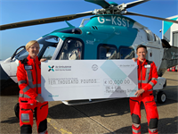 Air Ambulance Kent Surrey Sussex  crew members Dr Kat Hunter (left) and Paramedic/Duty Manager Jo Griggs (right)