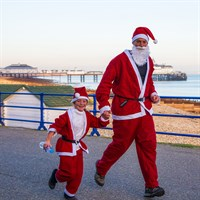 Santa Run family by Graham Huntley