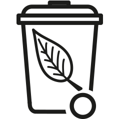 Garden waste collection icon in .png format